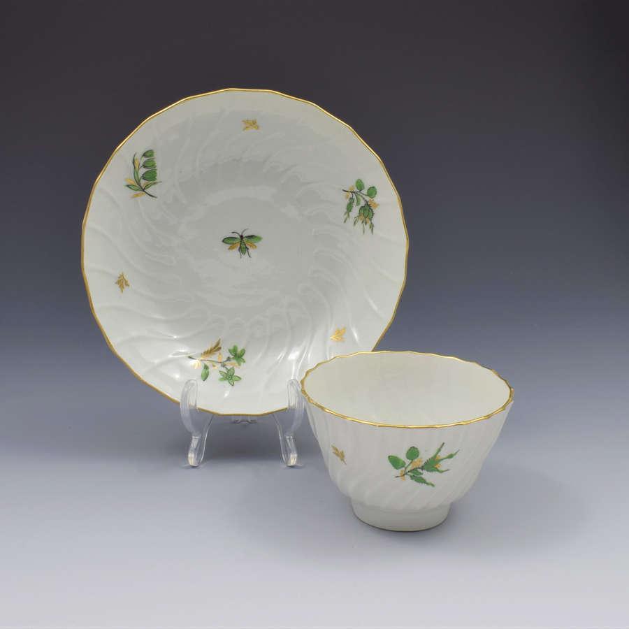 Flight & Barr Worcester Porcelain Spiral Fluted Tea Bowl & Saucer