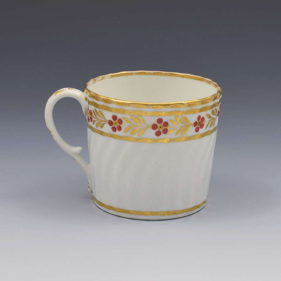 Georgian Spiral Fluted Porcelain Coffee Can Possibly Chamberlain