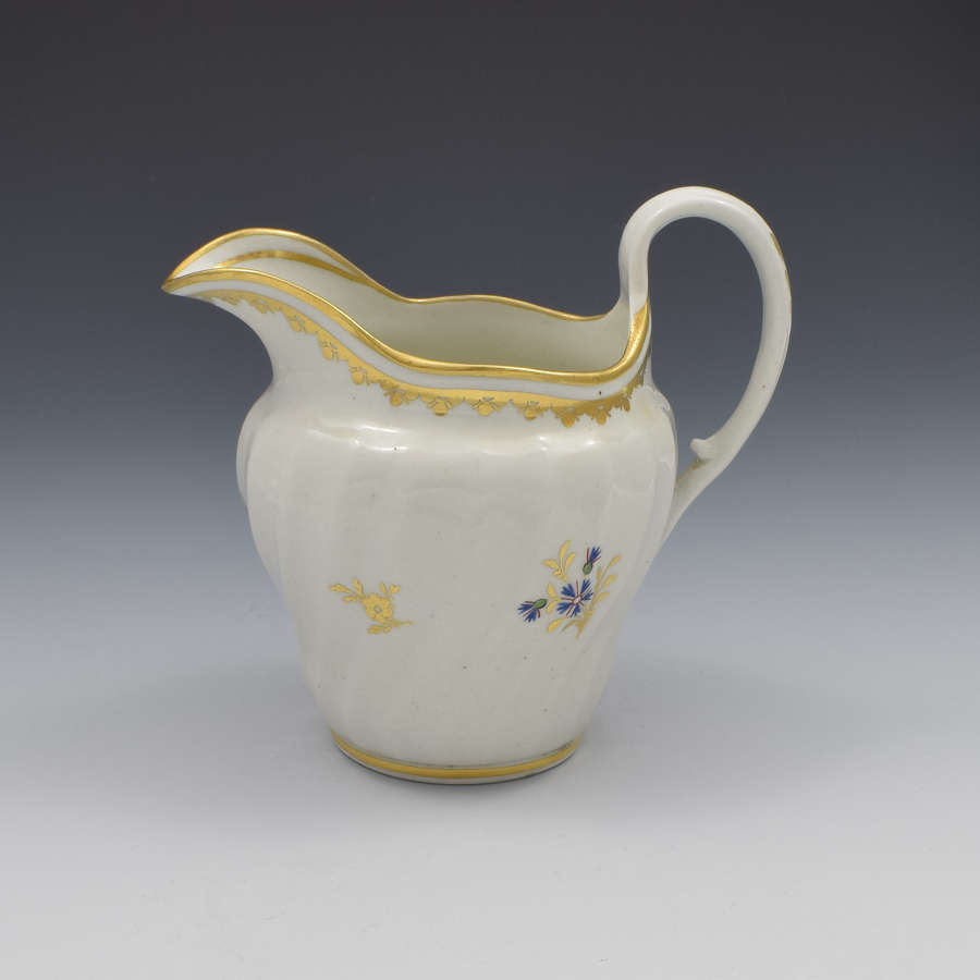 Flight Period Worcester Porcelain Waisted Cream Jug Cornflower Sprigs