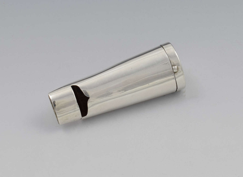 Edwardian Silver Novelty Combination Whistle & Vesta Case