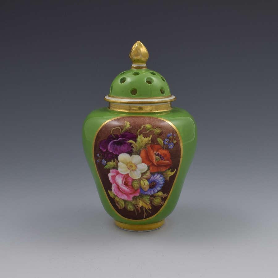 Victorian Stevenson & Hancock Crown Derby Pot Pourri Vase & Cover