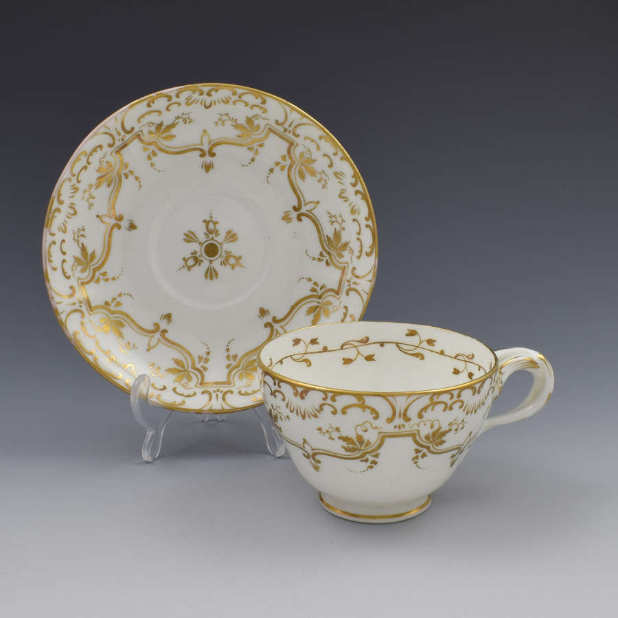 Coalport Teacup & Saucer Entwined Split Handle Pattern 4 769