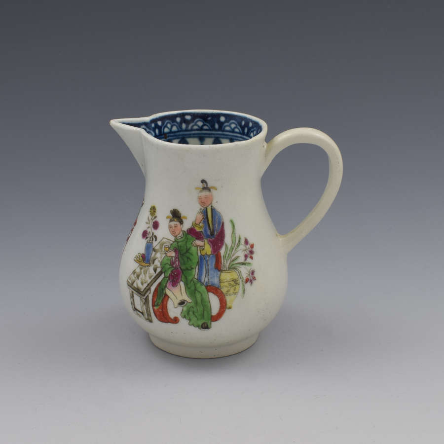 First Period Worcester Chinese Family Sparrow Beak Cream Jug c.1770