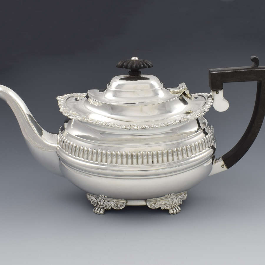 Edwardian Silver Teapot Chester 1906 Nathan & Hayes