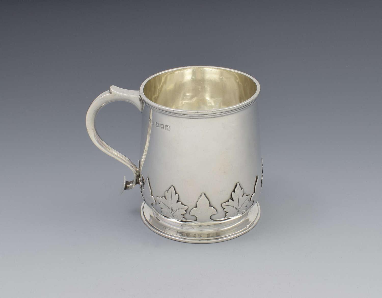 Silver Baluster Half Pint Beer Mug / Christening Cup / Tankard