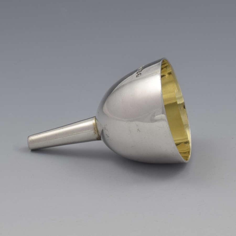 Miniature Victorian Silver Perfume / Hip Flask Funnel