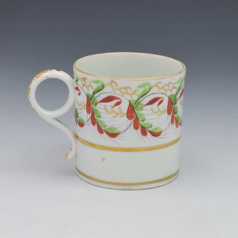 Barr, Flight & Barr Worcester Porcelain Coffee Can C.1810