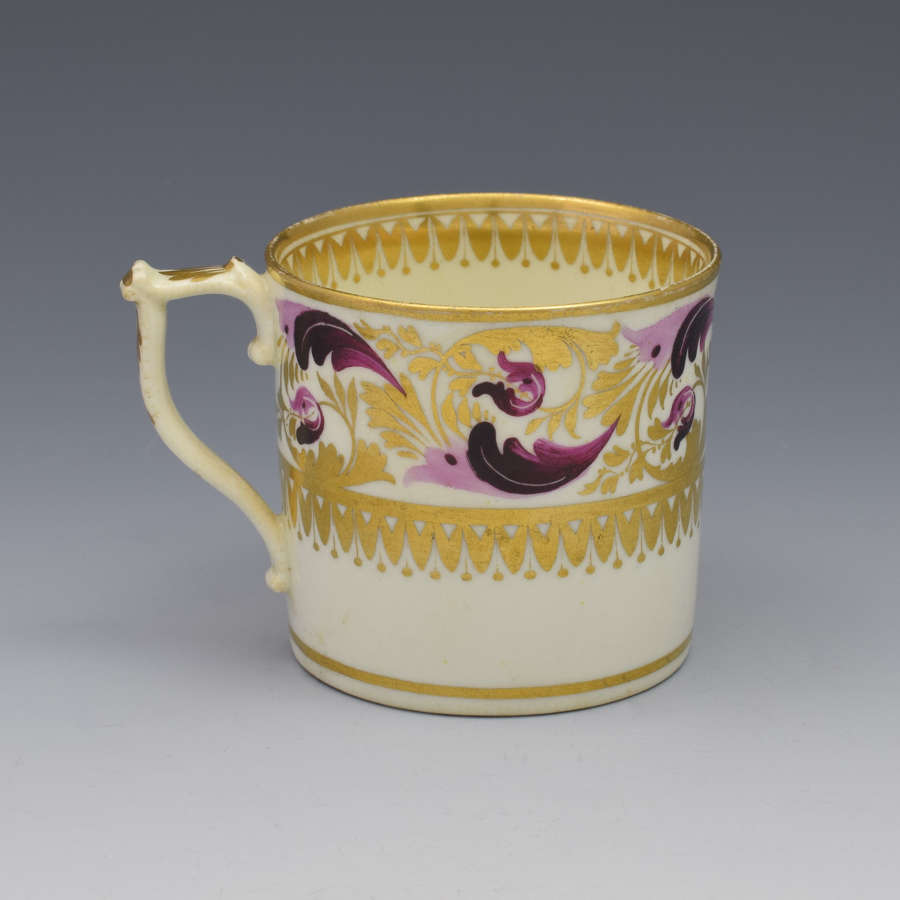 Derby Porcelain Coffee Can Dresden Handle C.1820