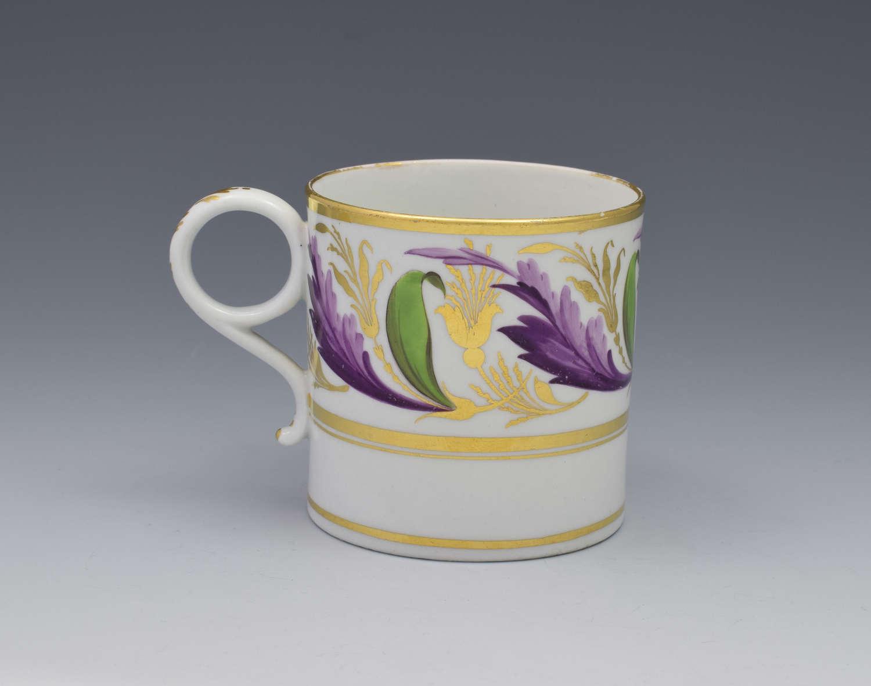 Barr, Flight & Barr Worcester Porcelain Coffee Can C.1810