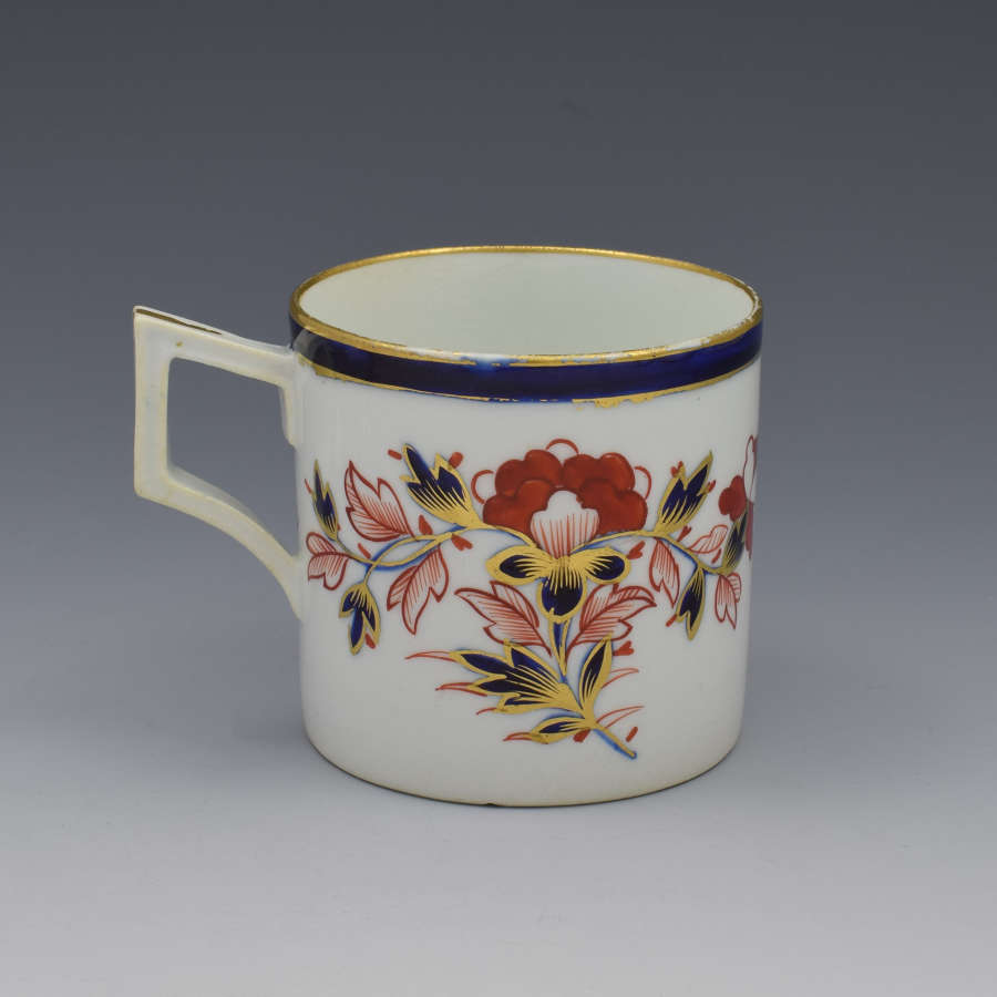 Derby Porcelain Imari Coffee Can French Handle C.1810