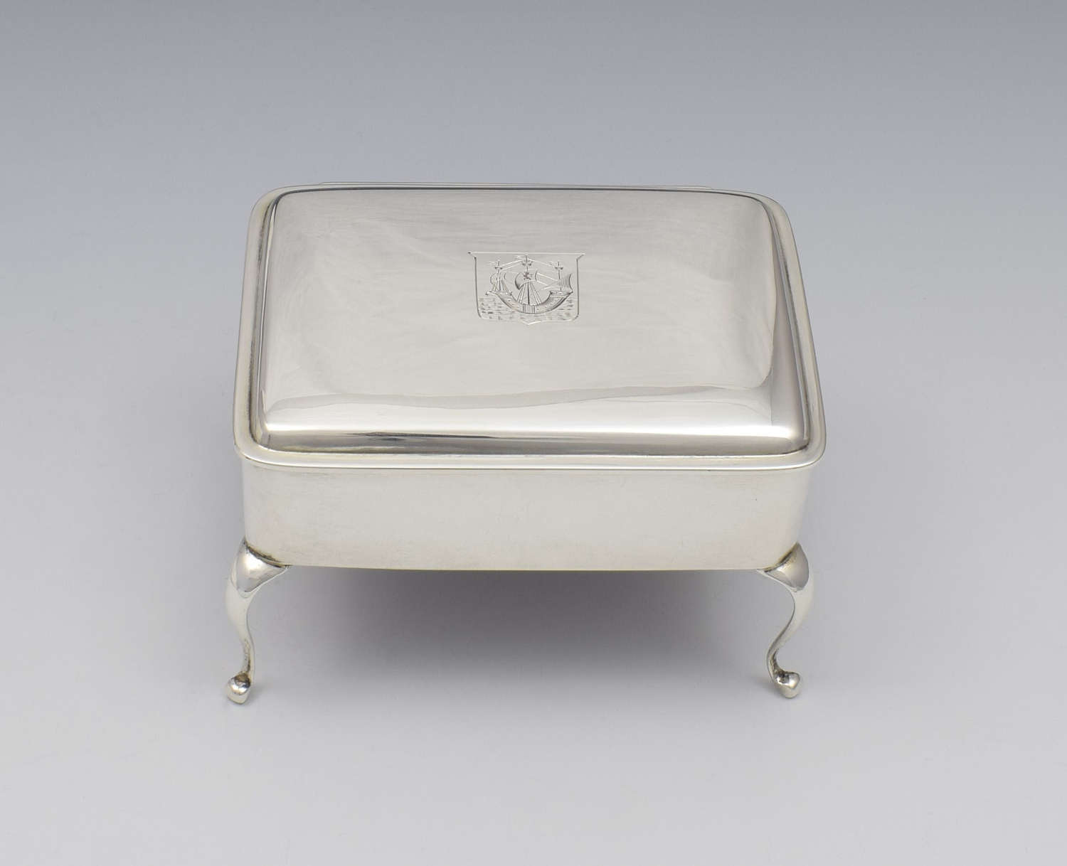 George V Silver Jewellery Casket / Dressing Table Box