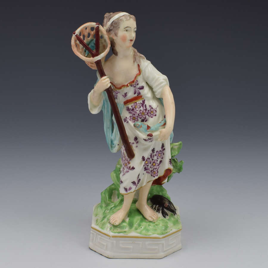 18th Century Derby Porcelain Allegorical Figure Of Water Elements Pier