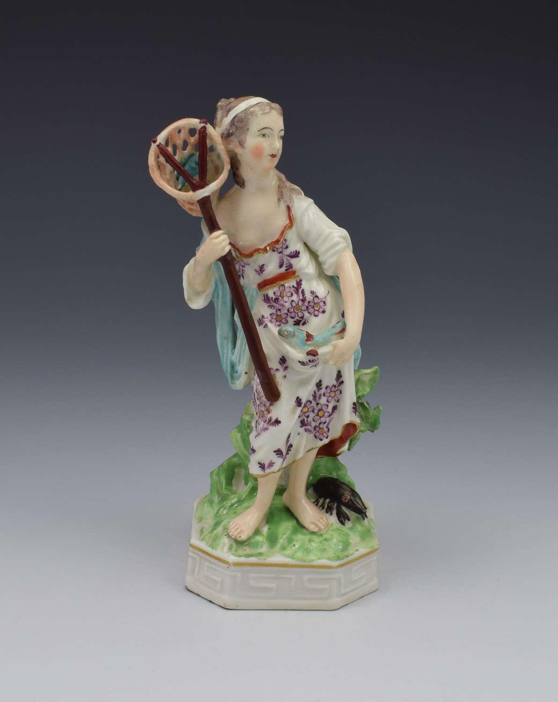 18th Century Derby Porcelain Allegorical Figure Of Water Elements Pier