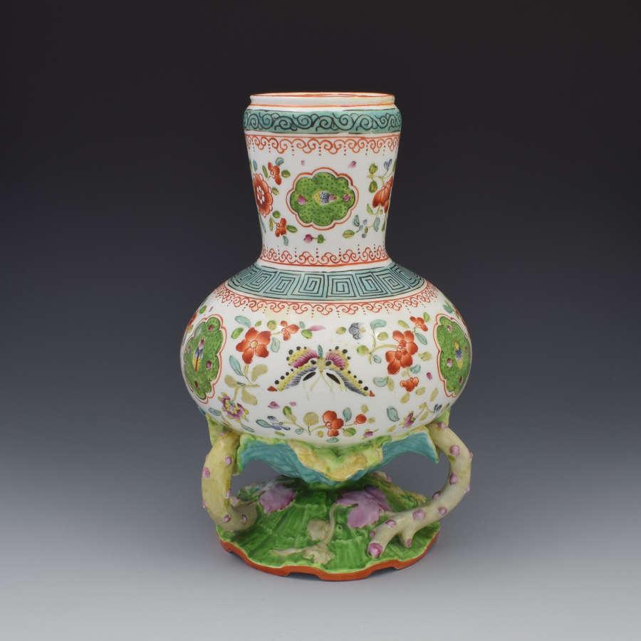 Unusual Minton Porcelain Aesthetic Period Vase 1870