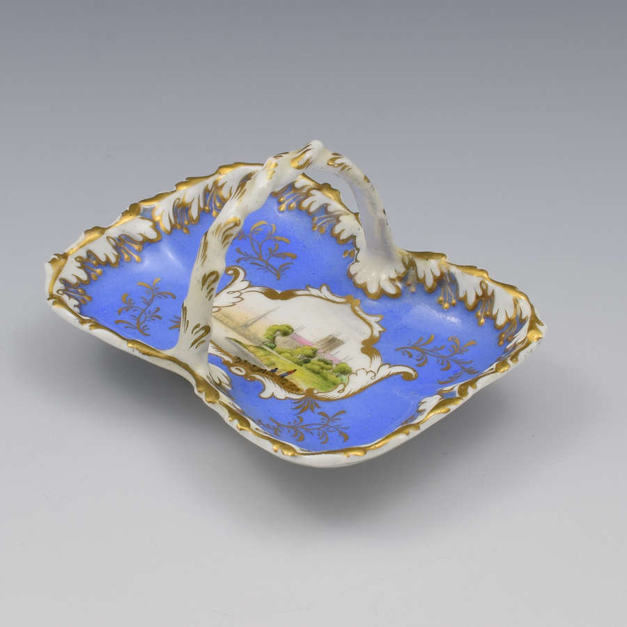 Miniature Worcester Chamberlain & Co. Porcelain Basket