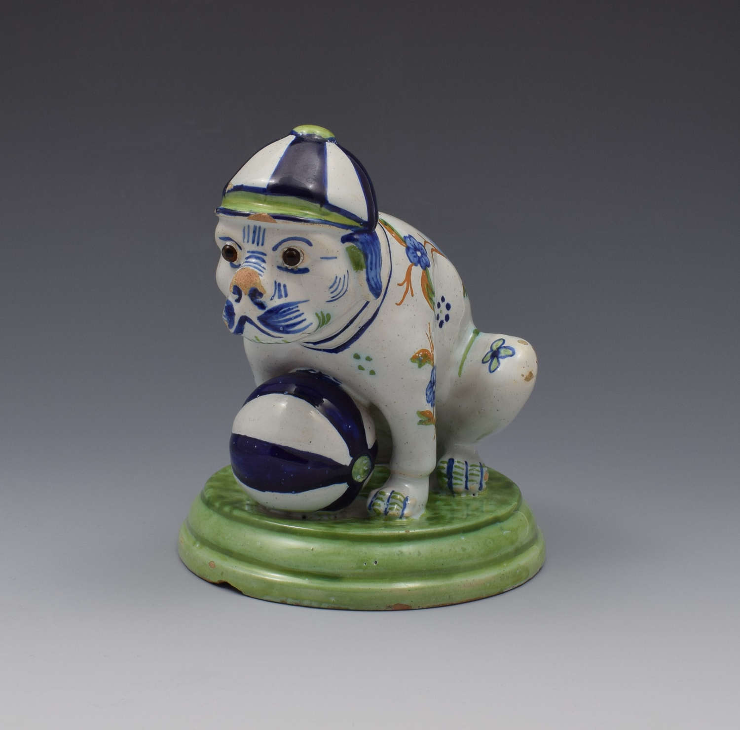 Unusual Novelty Max Emmanuel Mosanic Pottery Dog By Desvres