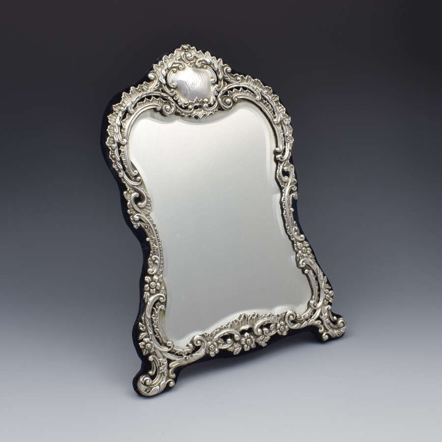 Victorian Silver Easel Back 12