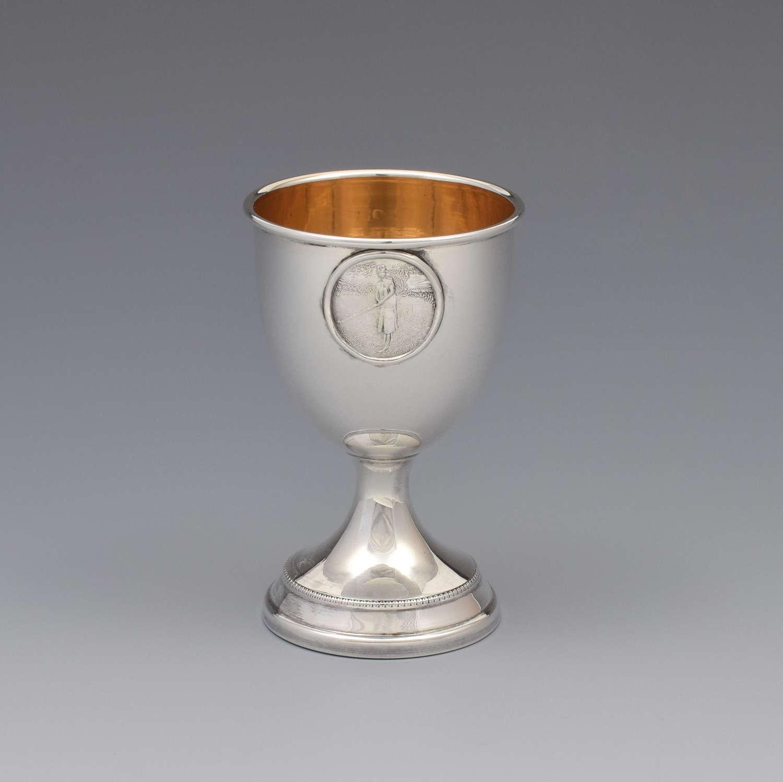 Art Deco Silver Golfer Egg Cup London 1931 Golf