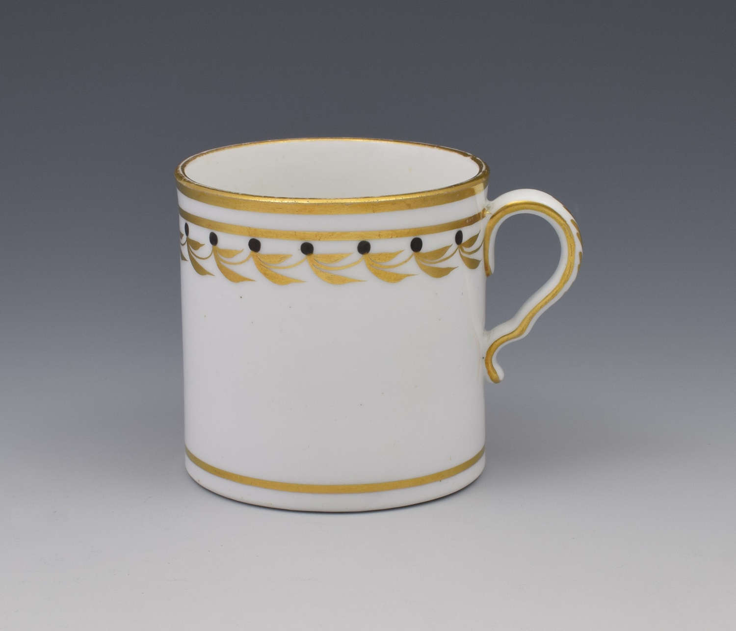 Spode Early 19thc Black & Gilded Coffee Can