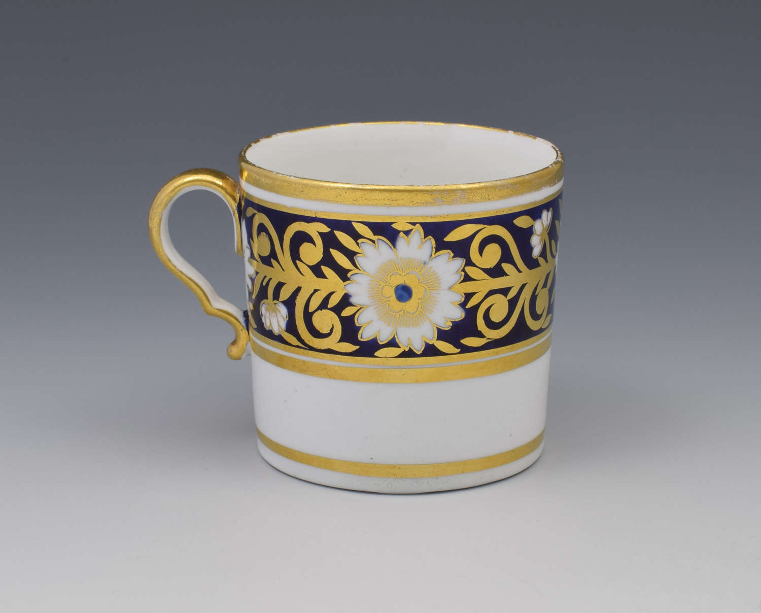 Spode Pretty Early 19thc Blue Gilded Coffee Can 893