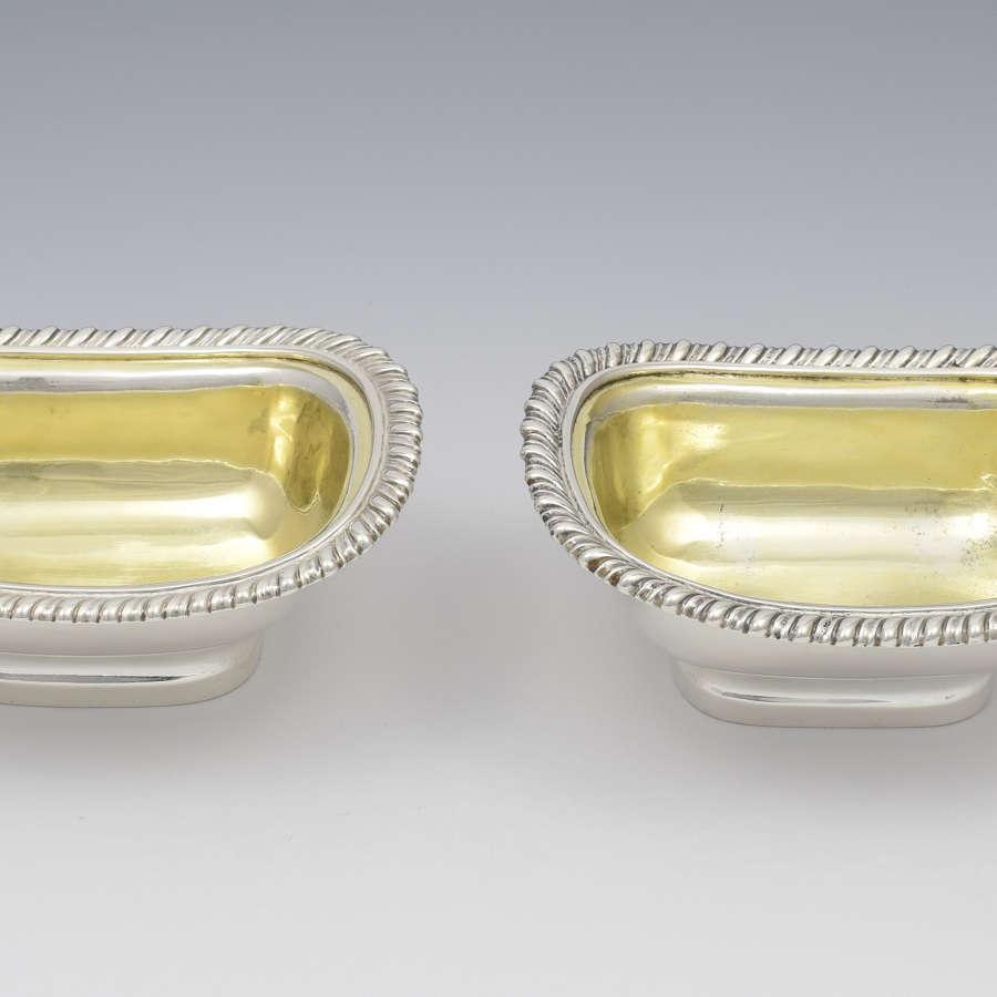 Pair Of Georgian Silver Table Salts London 1817