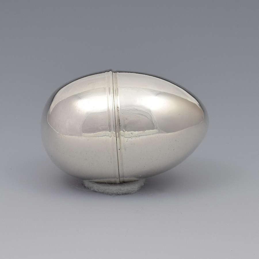 Large Georgian Silver Egg Nutmeg Grater Samuel Meriton