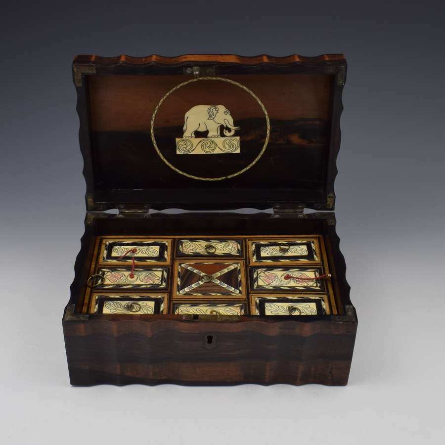 19th Century Anglo-Indian Coromandel Sewing / Work Box