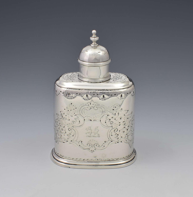 George I Silver Tea Caddy London C.1726 Richard Green