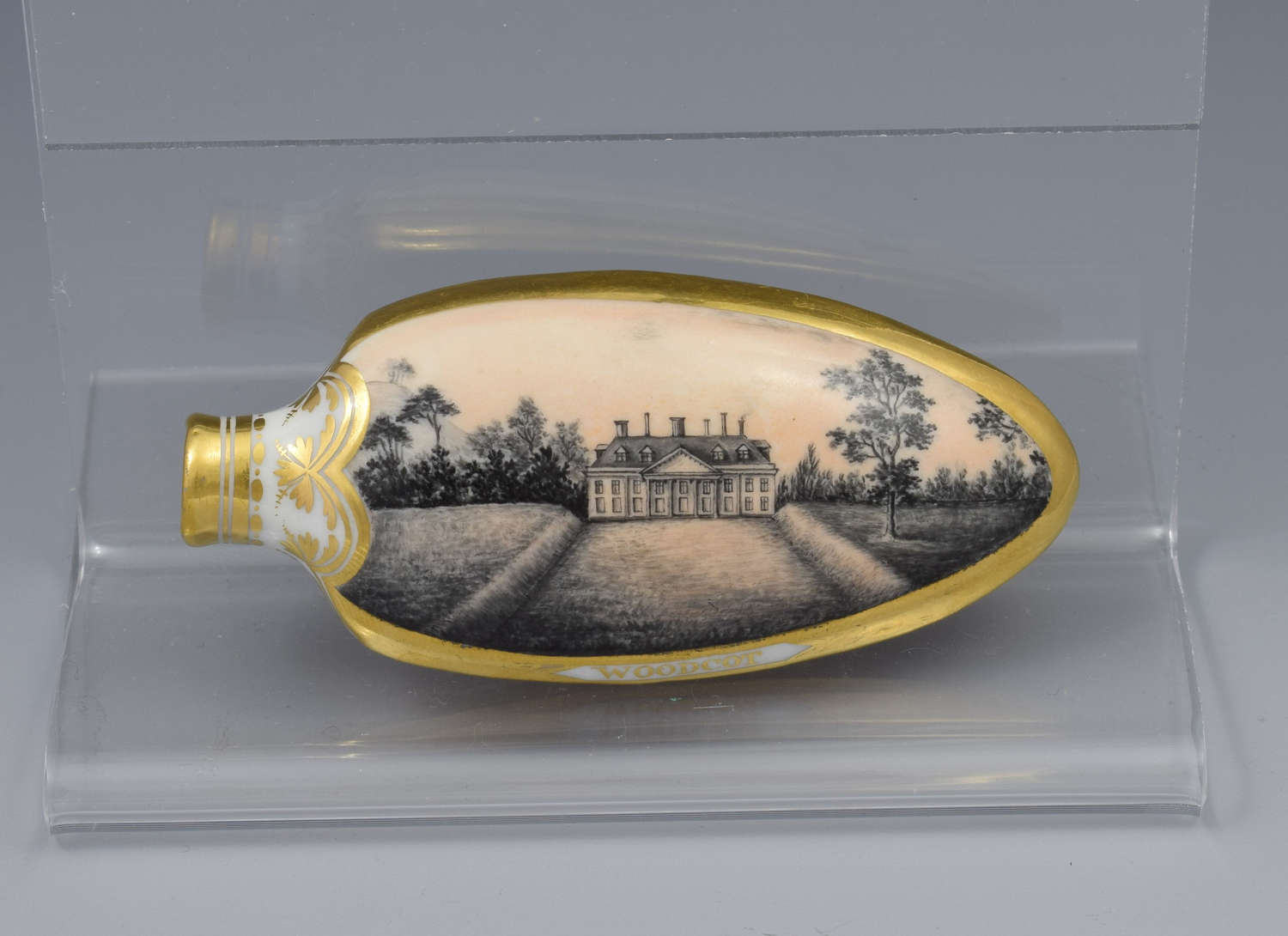 Early 19th Century Chamberlain Worcester Scent Perfume Bottle