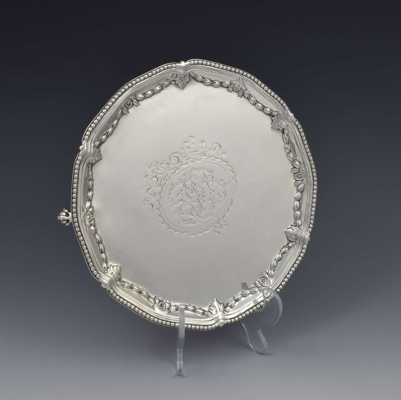 Georgian Silver Salver Waiter Makepeace & Carter 1776