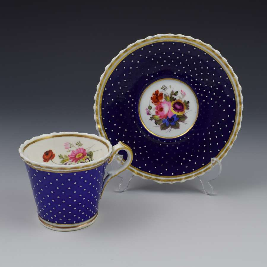 Regency Chamberlain Worcester Porcelain Coffee Cup & Saucer C.1820