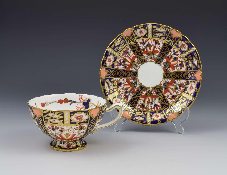 Royal Crown Derby Imari Tea Cup & Saucer Pattern 6947