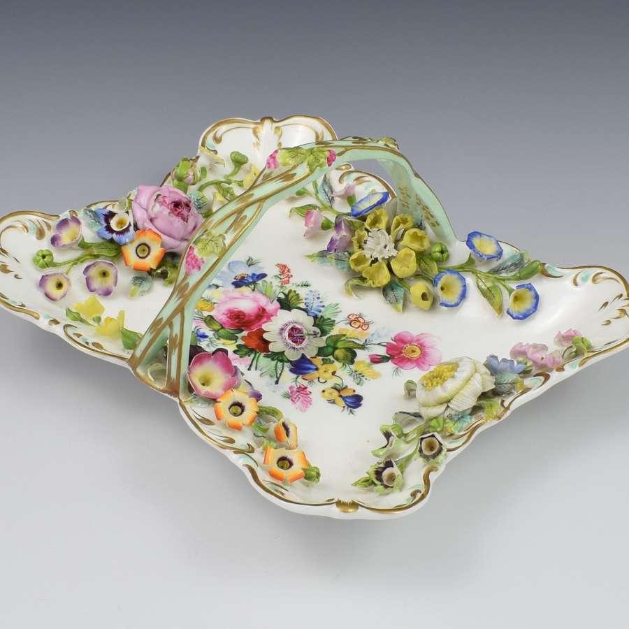 Minton Flower Encrusted Clarence Basket - Godden Collection