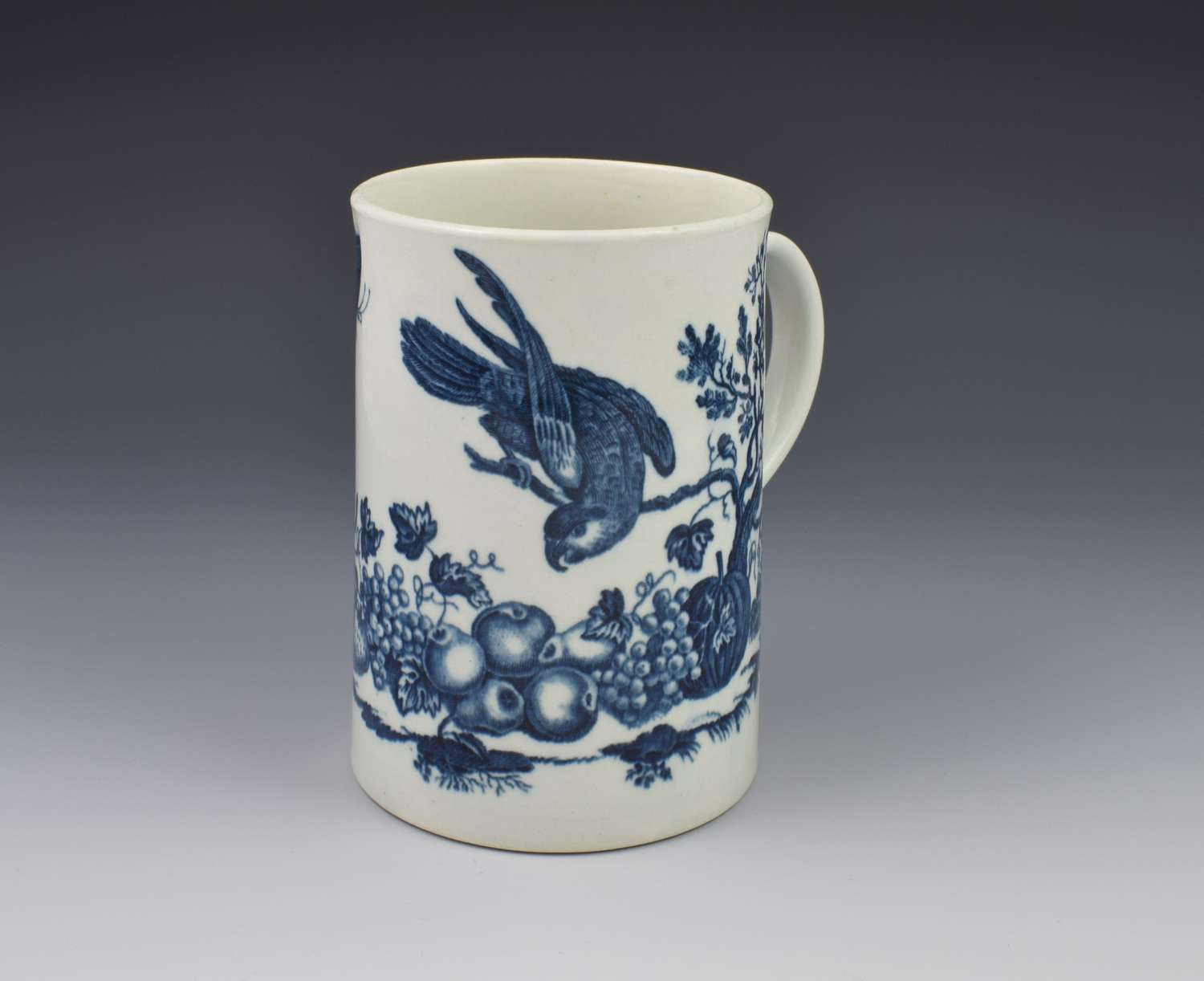 First Period Worcester Large Mug Parrot Pecking Fruit