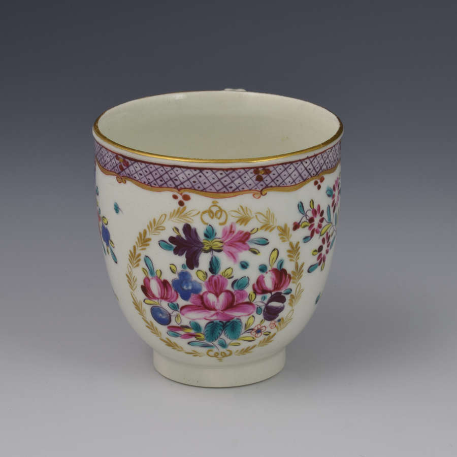 First Period Worcester Coffee Cup Compagnie Des Indes Pattern C.1775