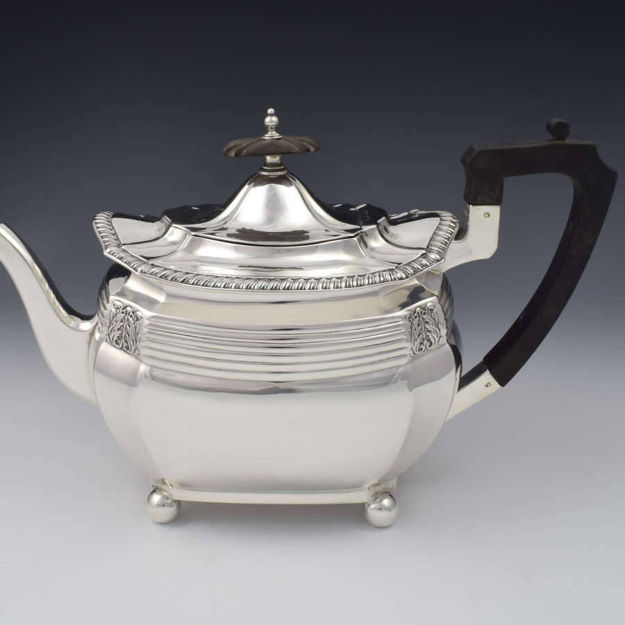 Edwardian Silver Art Nouveau Teapot Walker & Hall Teapot Sheffield