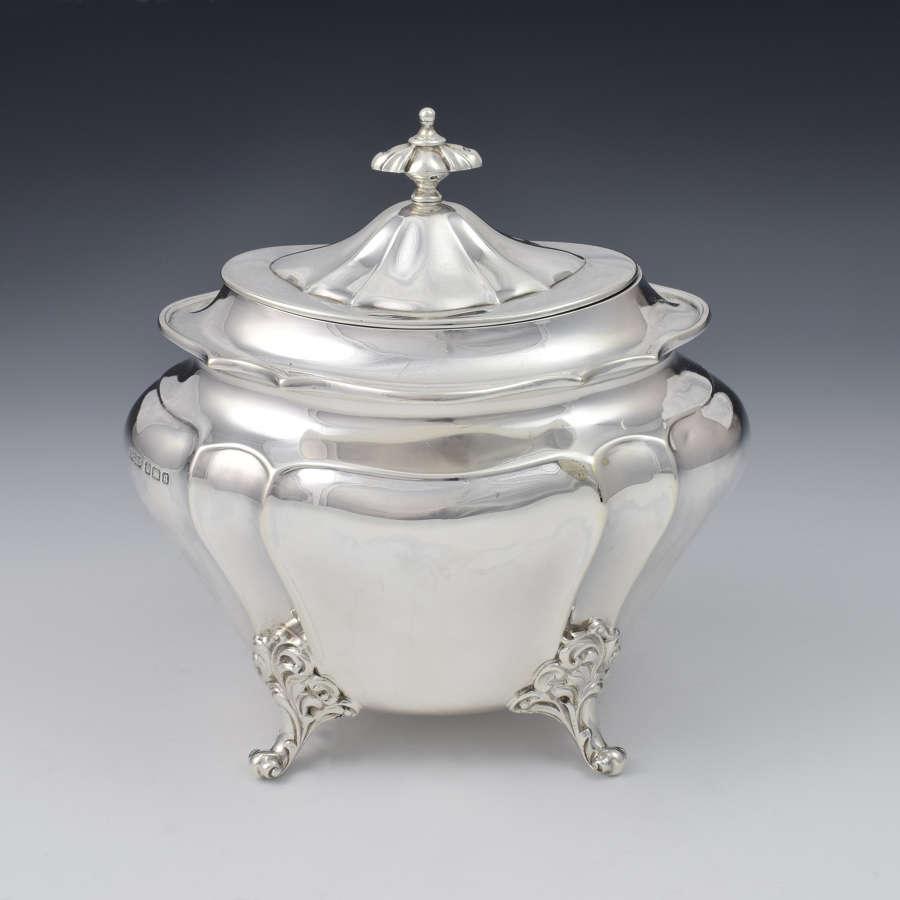 Victorian Silver Sugar Box / Tea Caddy 18thc German Style