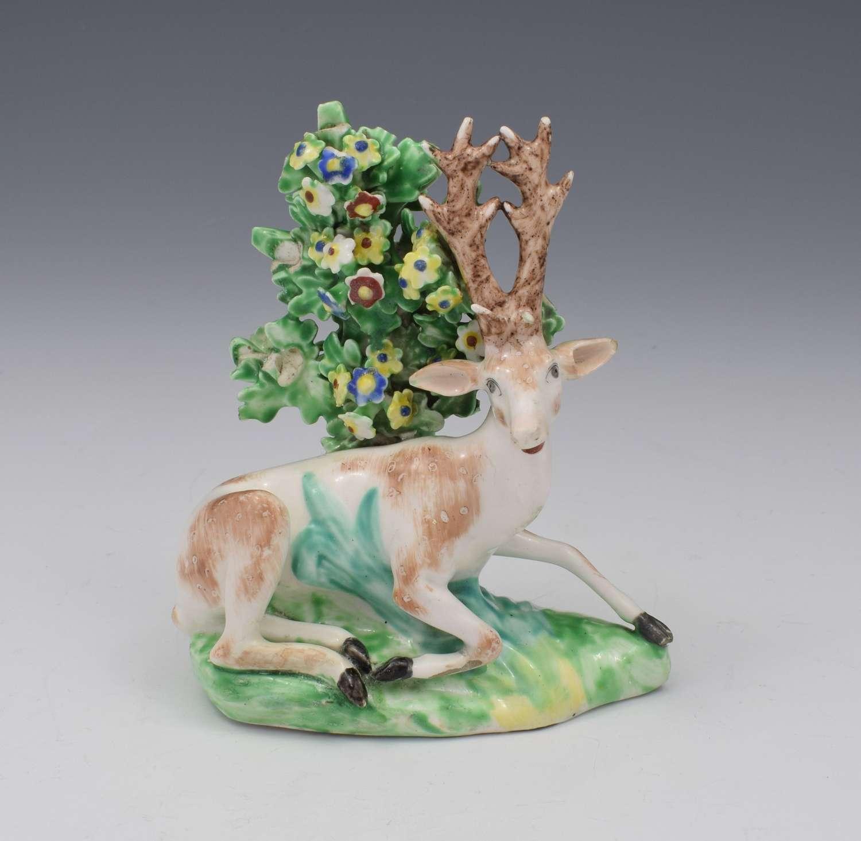 Derby Porcelain Figure Recumbent Stag Deer C.1765