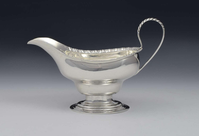 Georgian Scottish Silver Pedestal Sauceboat Edinburgh 1780