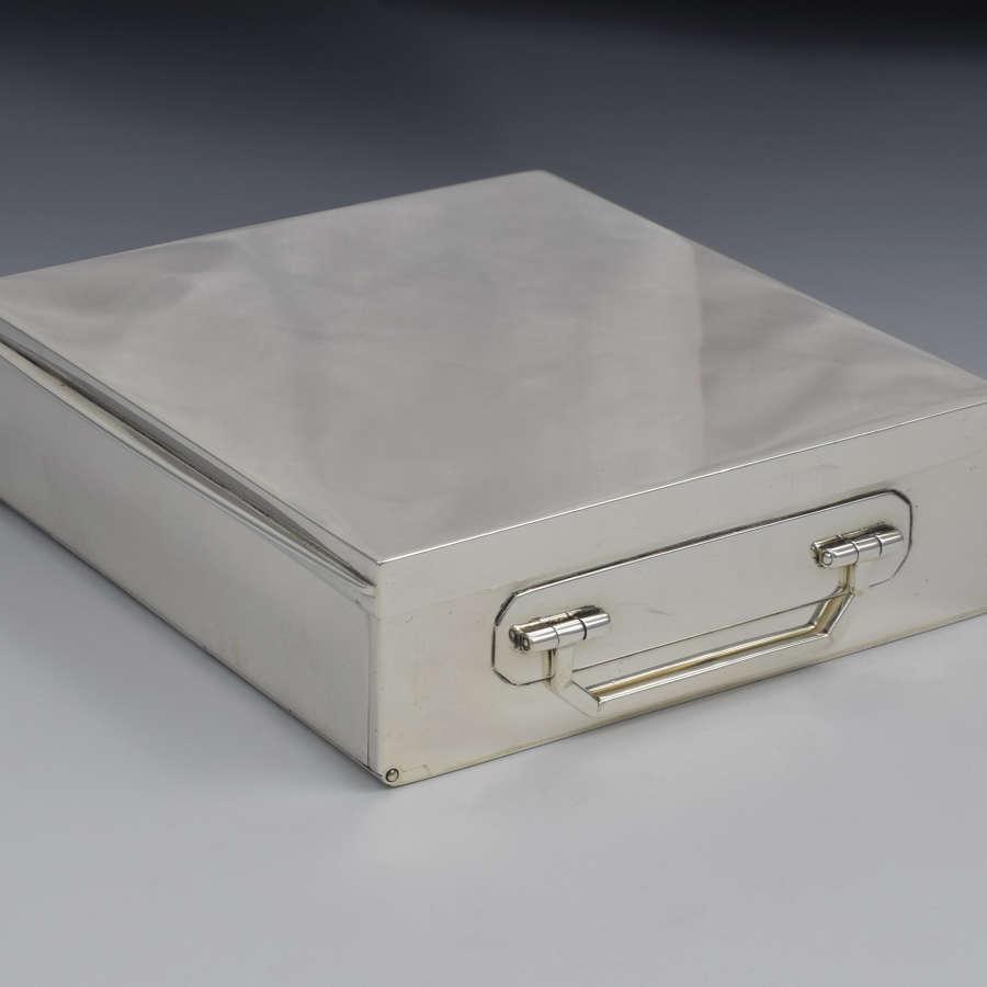Fine George V Asprey Silver Sandwich Box 1922