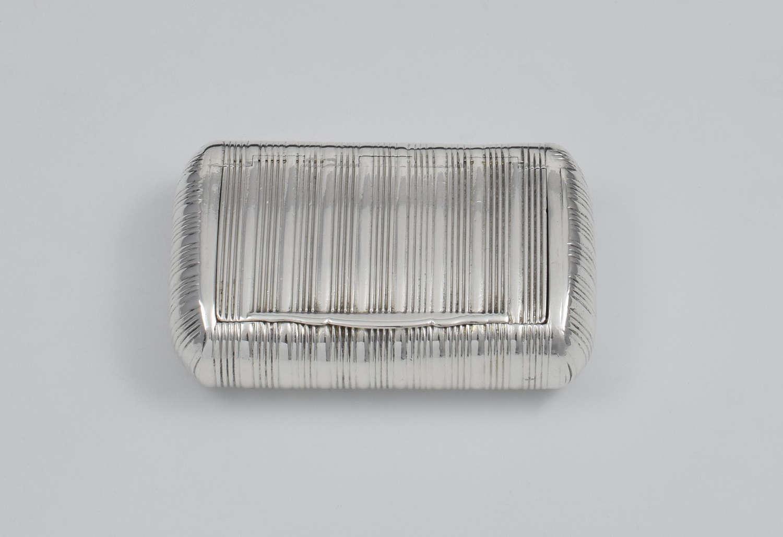 George III Fine Ribbed Silver Snuff Box 1810 Shekleton