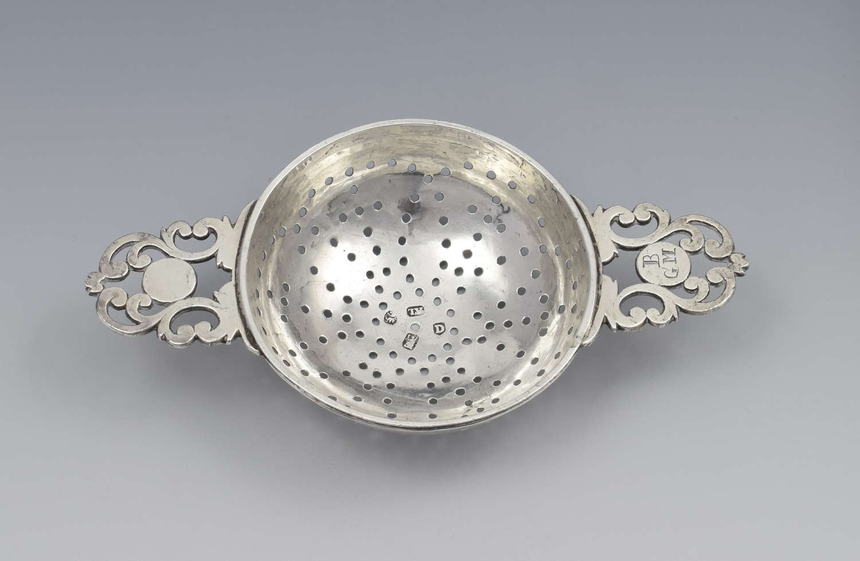 George I Britannia Silver Lemon Strainer London 1719 John Albright