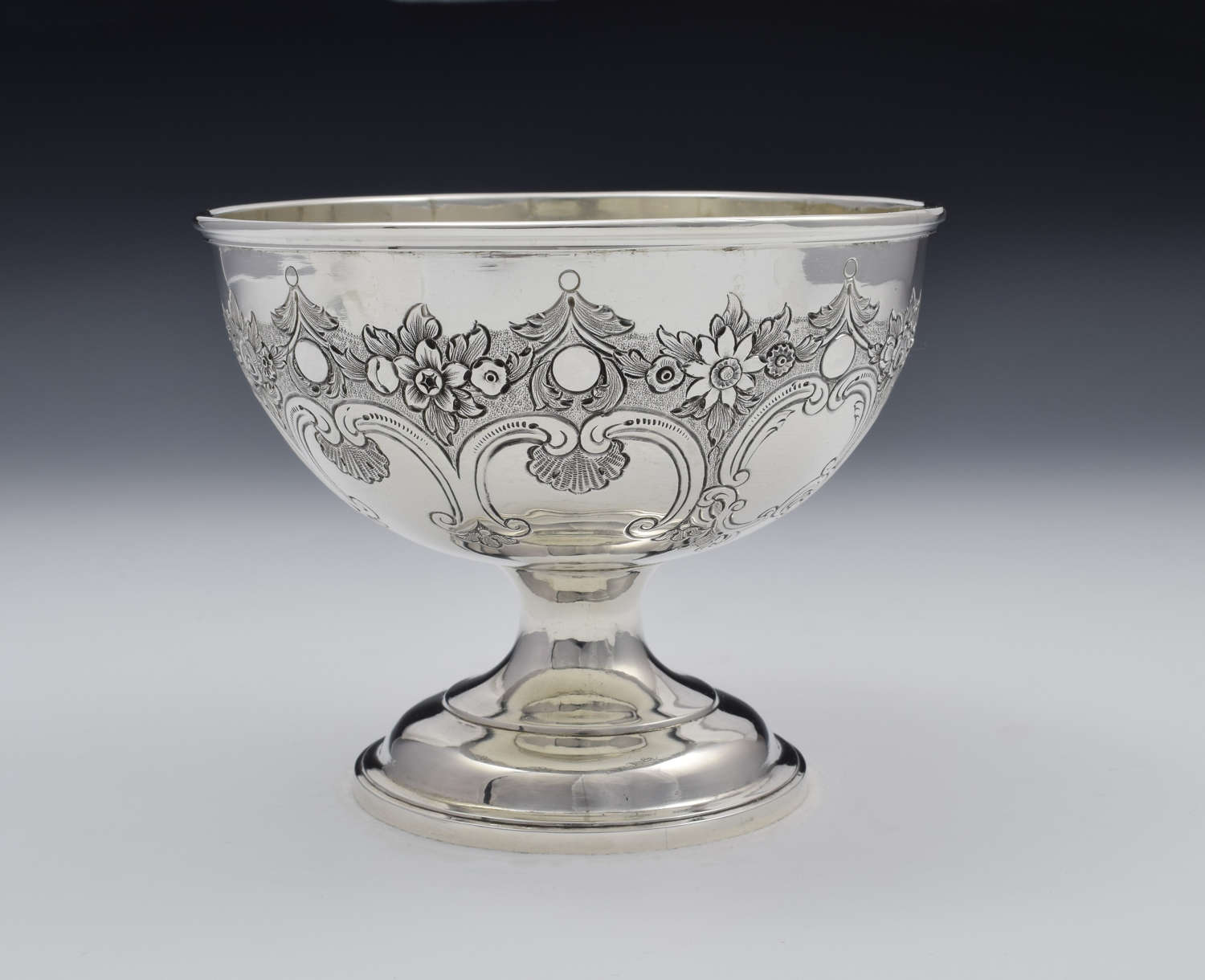 Victorian Scottish Silver Pedestal Bowl Mackay & Chisholm Edinburgh