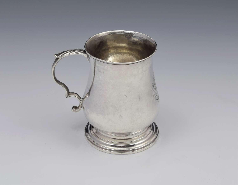 Small George III 1/4 Pint Silver Christening Mug David Mowden