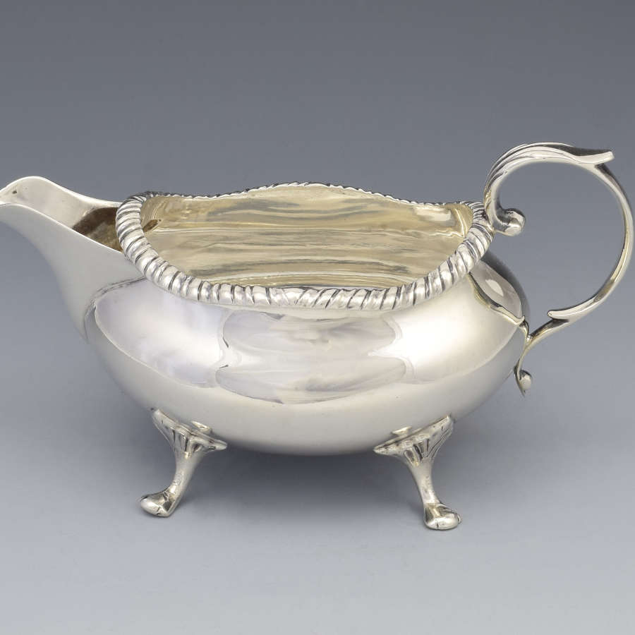 Small Late Victorian Silver Cream Jug Sauceboat Thomas Ducrow