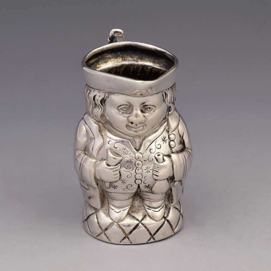 German Hanau Silver Novelty Miniature Toby Jug