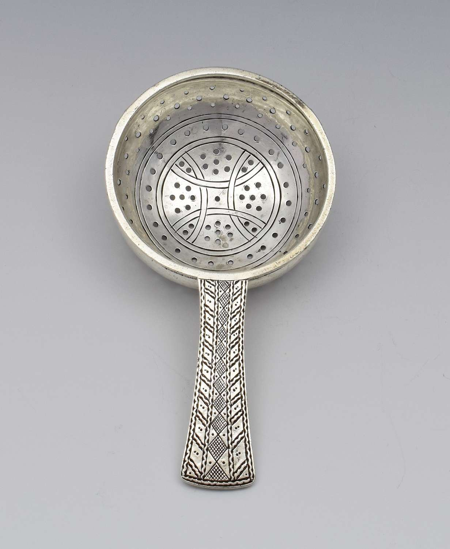 Art Deco Silver Celtic Style Liberty & Co. Tea Strainer Spoon