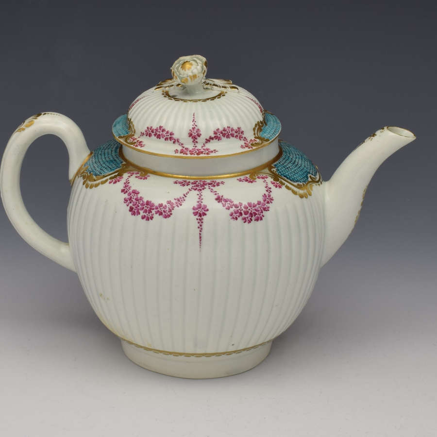 First Period Worcester Sevres Style Teapot, C.1770