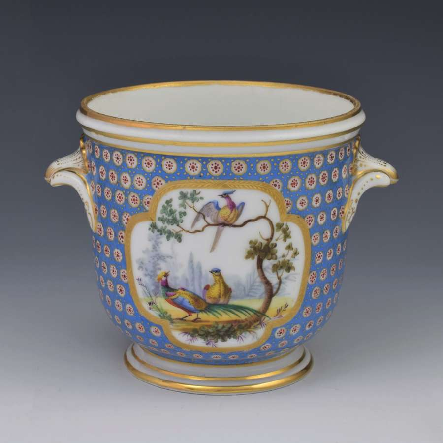 Stunning French Sevres Style Porcelain Bottle Cooler Seau A Bouteille