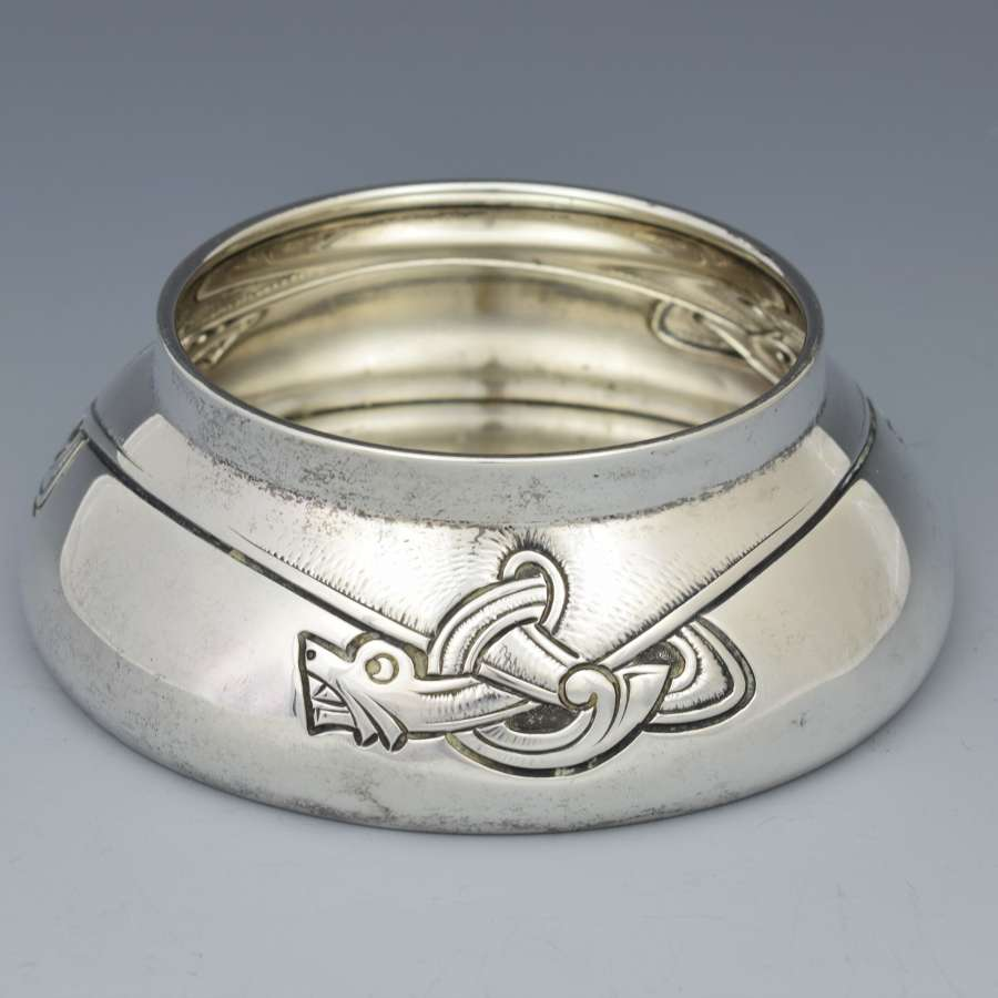 Marius Hammer Norwegian Silver Small Dragon Bowl